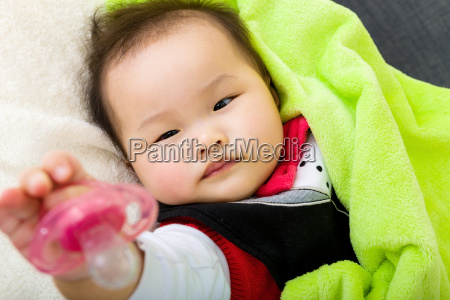baby give pacifier