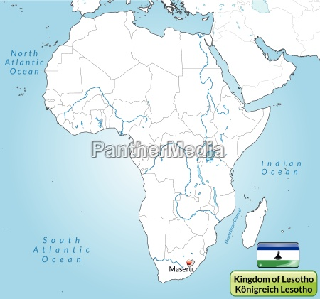 surrounding area of lesotho with capitals