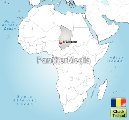 map of chad with capitals in