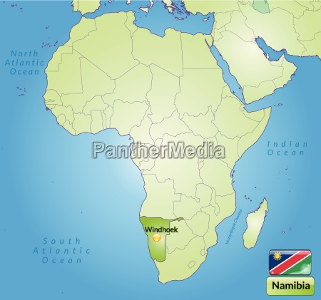 surrounding area of namibia with capitals