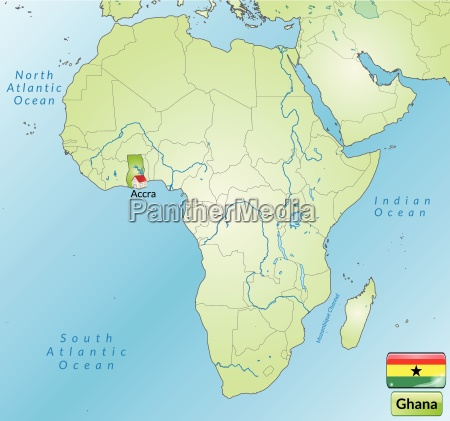 surrounding area of ghana with capitals