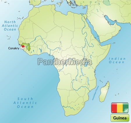 surrounding area of guinea with capitals