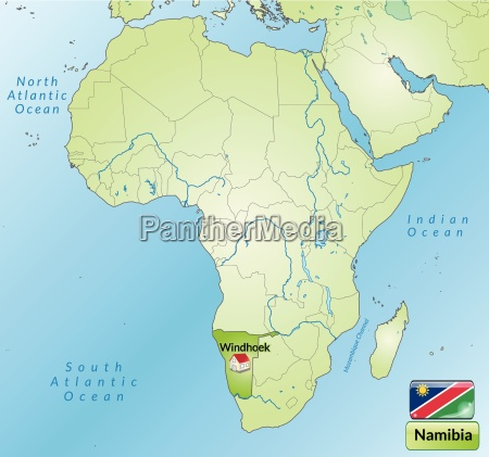map of namibia with capitals in