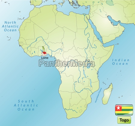 map of togo with capitals in