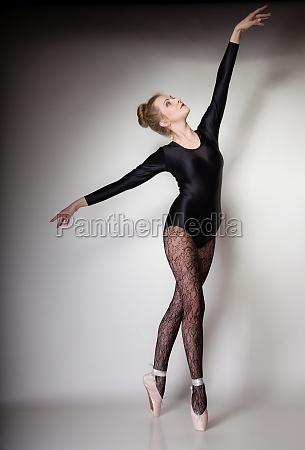 modern style woman ballet dancer full