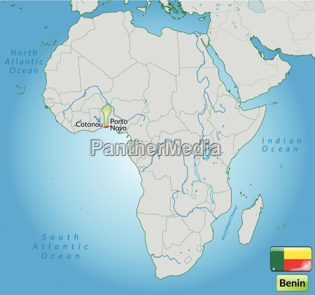 environment map of benin with capitals