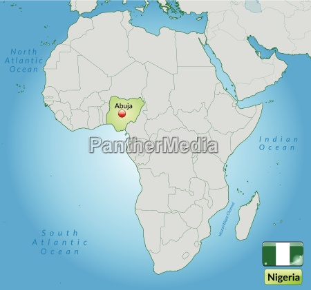 map of nigeria with capitals in