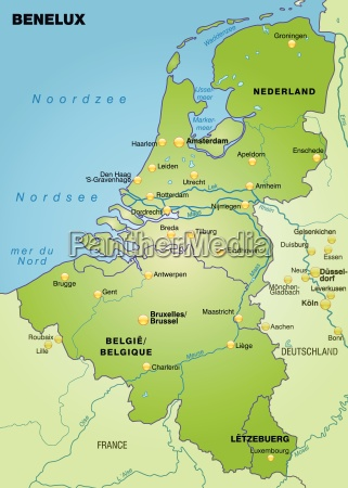 map of benelux laender as a