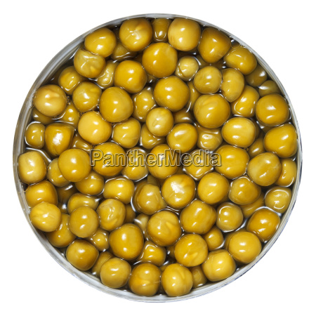 canned green peas in tin