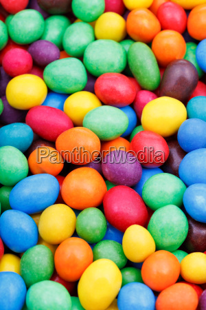 multi colored chocolate candy dragees