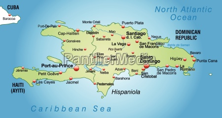 map of hispaniola as an overview