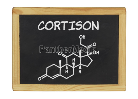 structural chemical formula of cortisone on