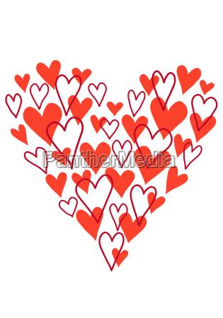 hand drawn scribble heart