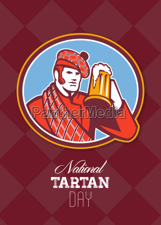 national tartan day beer drinker greeting