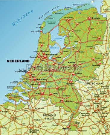 map of the netherlands with transport