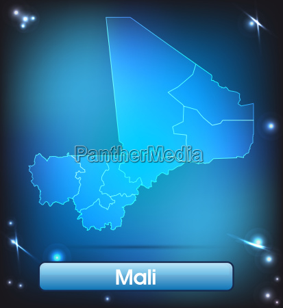 map of mali with borders in