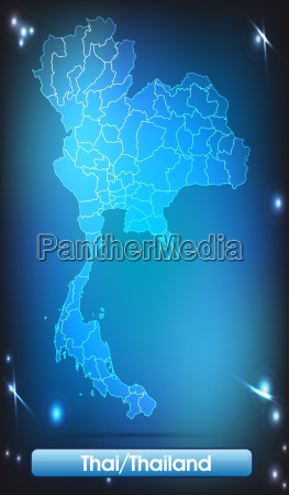 map of thailand with borders in