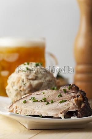 roast pork and dumplings