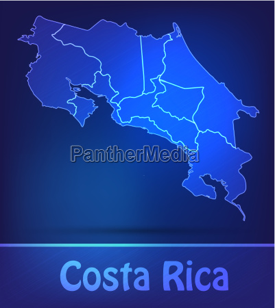 map of costa rica with limits