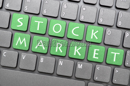 stock market key on keyboard