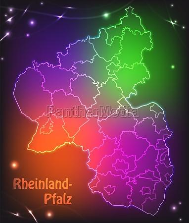 map of rhineland palatinate with borders