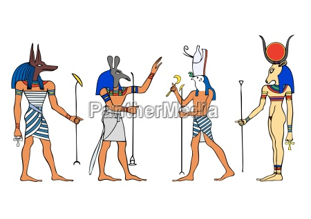 egyptian gods vector
