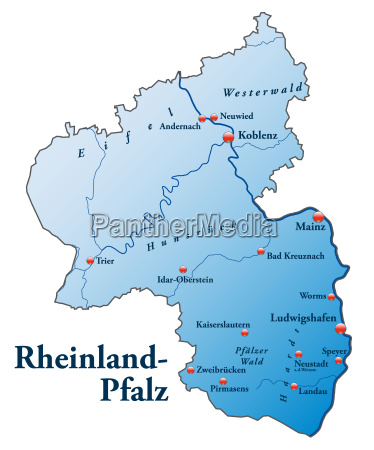 map of rhineland palatinate as outline