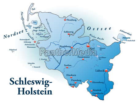 map of schleswig holstein as outline