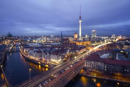 skyline berlin in hdr