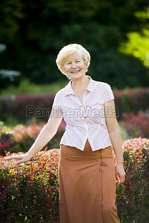 serenity graceful good looking senior woman