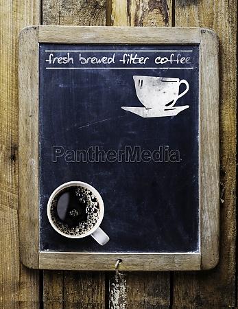 fresh brewed filter coffee