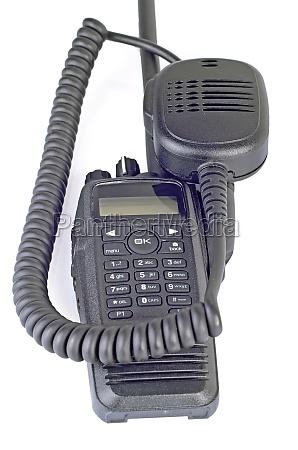 black compact professional portable radio set