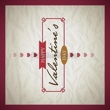 retro valentines day card