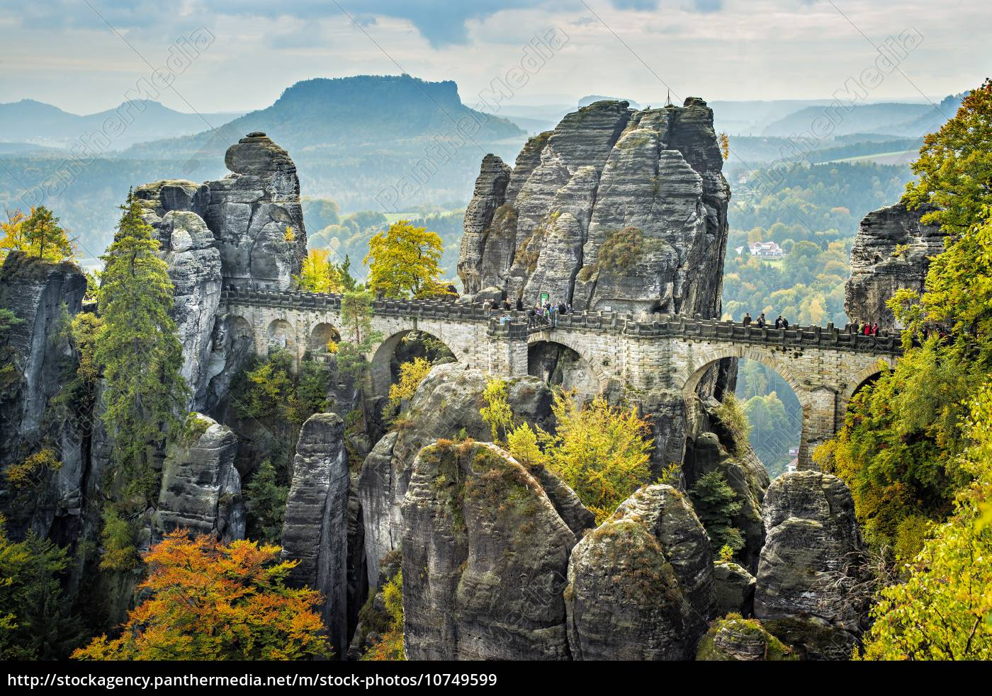 bridge, named, bastei, in, saxon, switzerland - 10749599