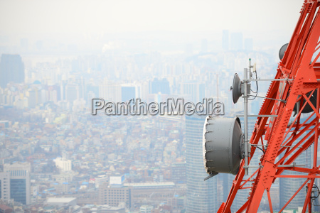 satellite dish tower