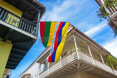 balconies and flags