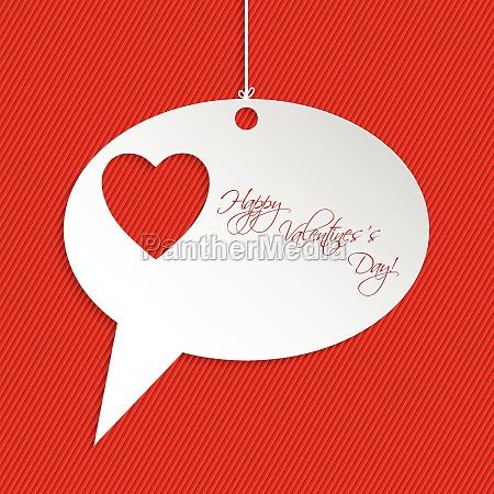 valentine greeting card design with speech