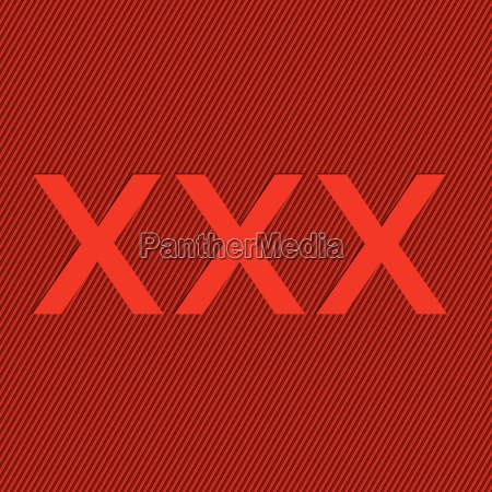 striped red background with xxx text