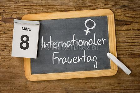 on march 8 is women internationler