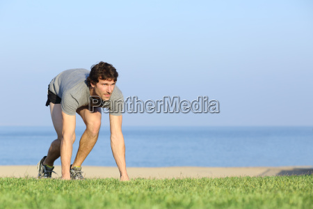 runner ready to run on the
