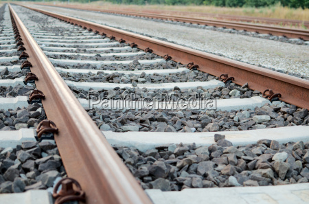 railway tracks close up