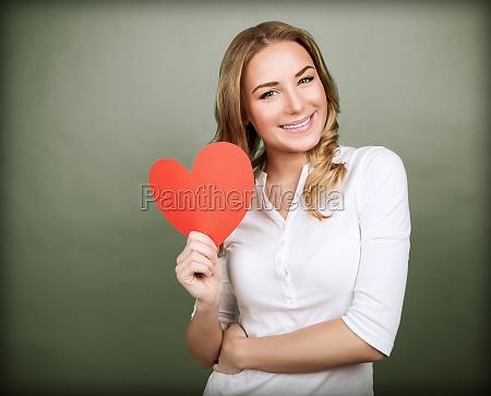 happy romantic woman