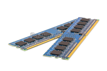 pair of computer ddr memory modules