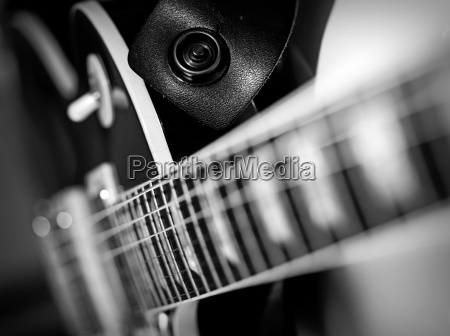 electric guitar macro abstract black and