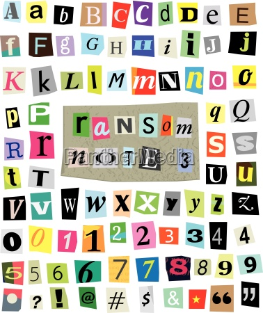 vector ransom note 3 cut paper