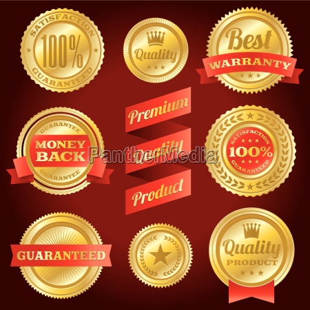 satisfaction guarantee and warranty badges and