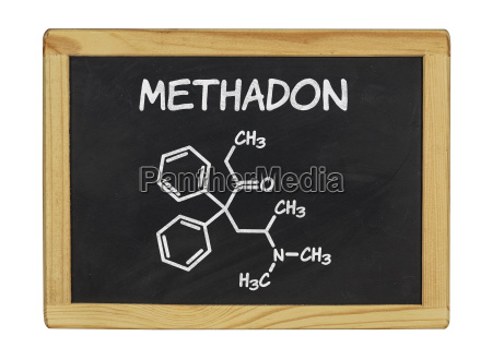 chemical structural formula of methadone on