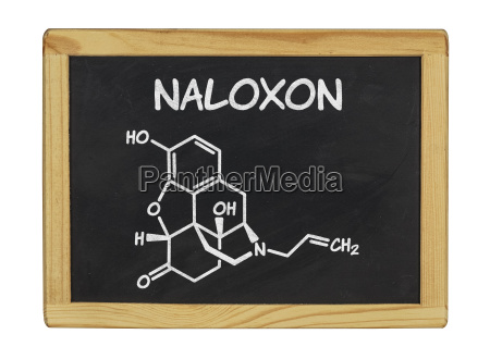 chemical structural formula of naloxone on