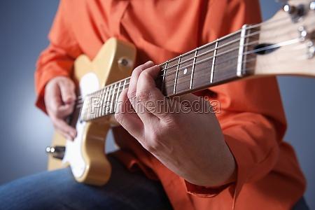 closeup of hands of a musician