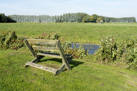 bench in the meadows in ter